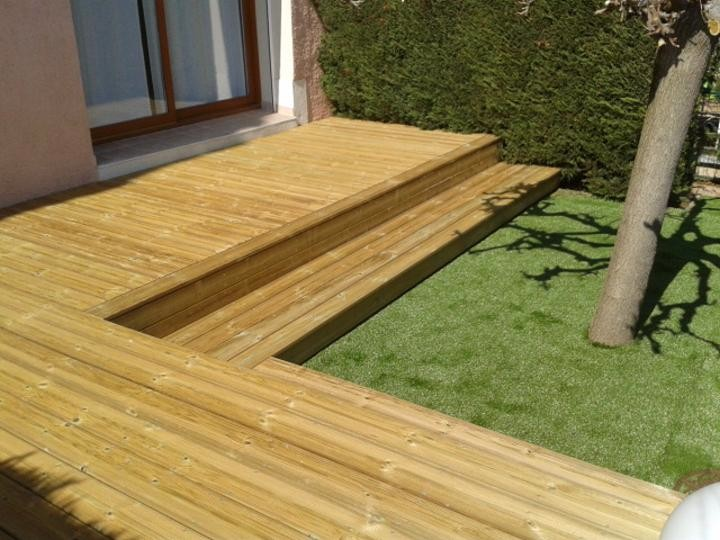 Terrasse naturel design - Terrasse avec gazon synthetique ...